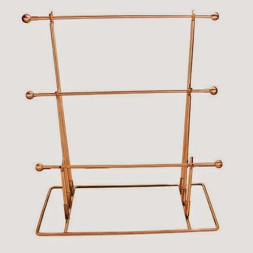 Metal Wire Tri-Bar Display