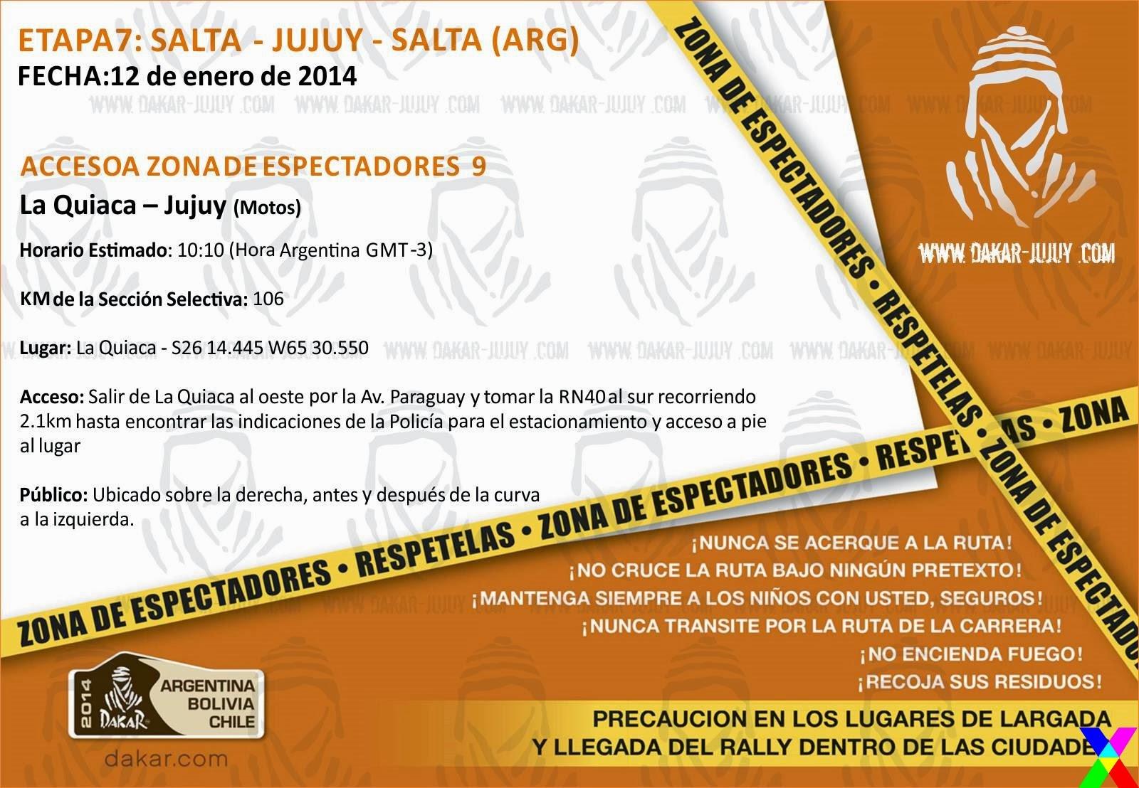 Zona de Espectadores 9 Jujuy - Dakar 2014