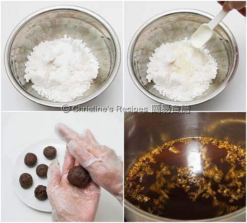 桂花豆沙西米糭製作圖 Sago Dumplings with Red Bean Filling Procedures01