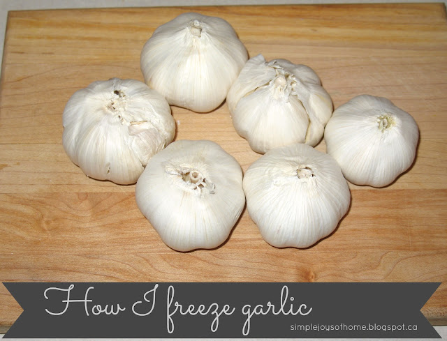 How I Freeze Garlic