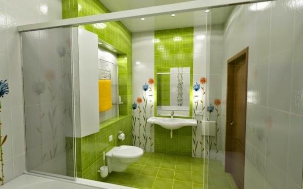 Imagenes Baños Femeninos:Cuarto de baño femenino muy fresco y luminoso gracias a los azulejos