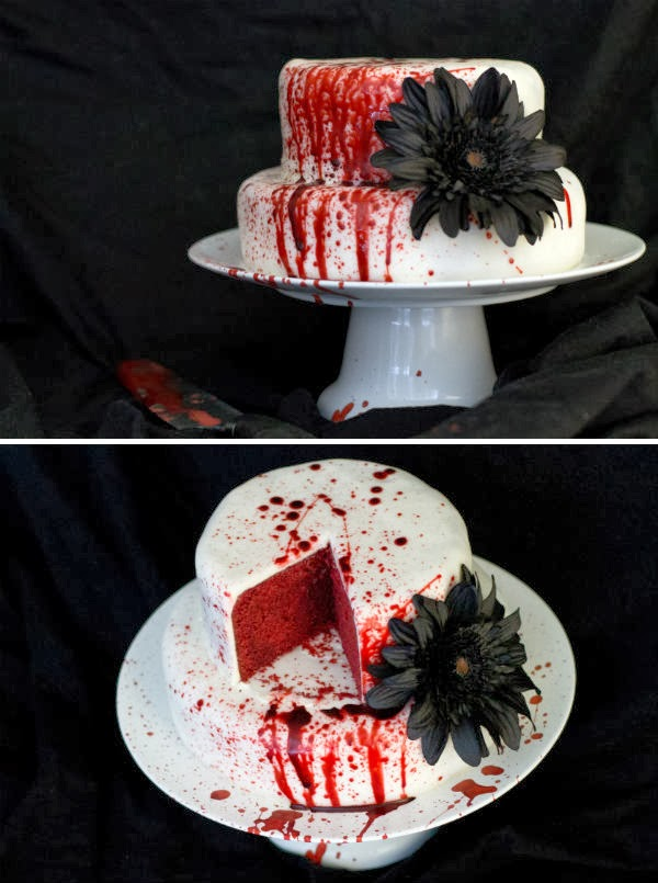 evil dead arm cake via - Halloween Scary Desserts