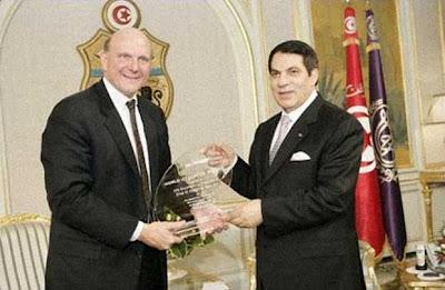 Steve Ballmer et le dictateur Ben ali