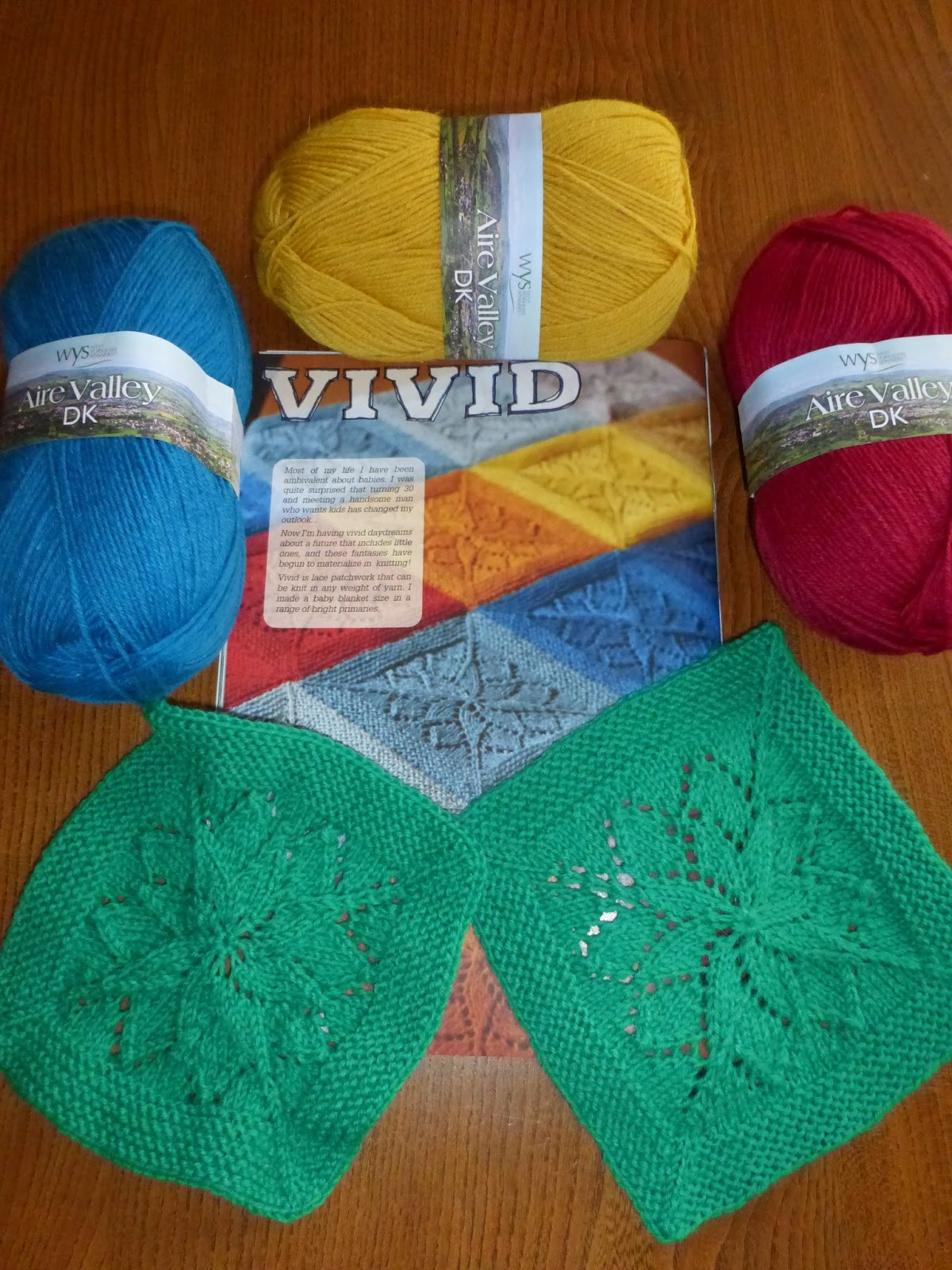 tin can knits vivid blanket for new baby in west yorkshire spinners aire valley bright colours