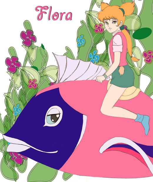 flora and her fish por tjaden68