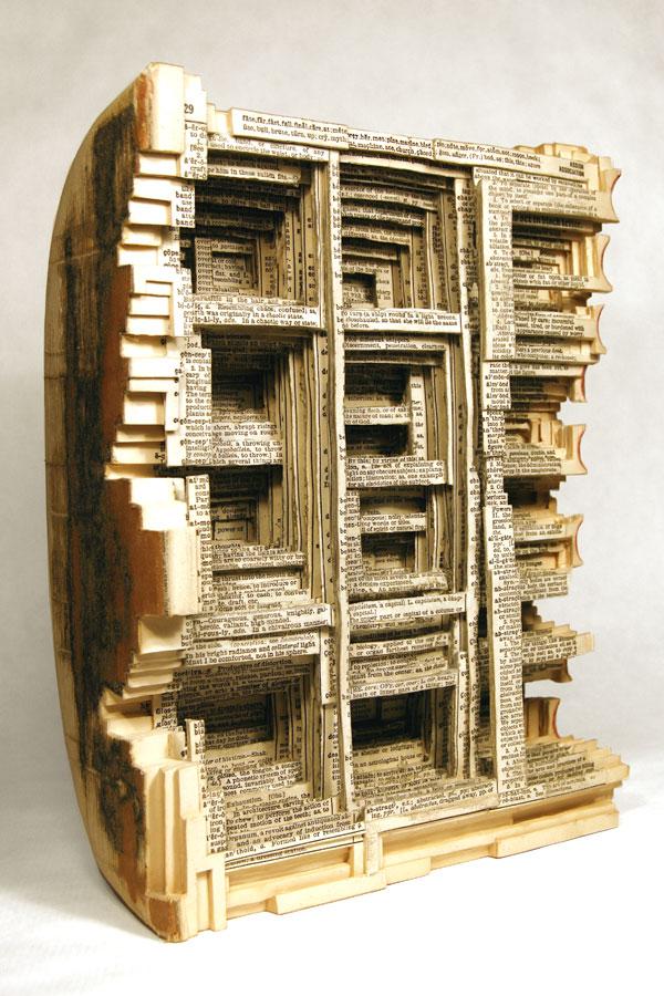 Book sculptures by brian dettmer for Dettmer homes
