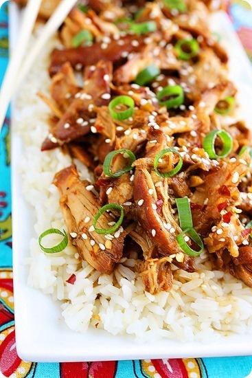 Amazing pinterest world crock pot honey sesame chicken for Best chicken thigh crock pot recipes