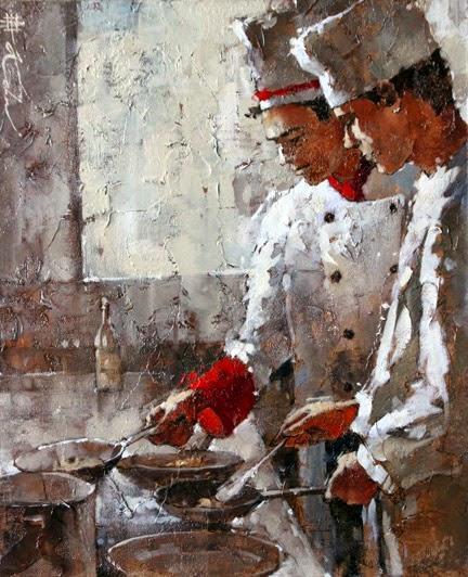 pinturas de cozinhas