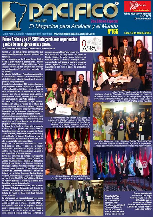 Revista Pacífico Nº 166  2da. Edición Especial Foro Internacional