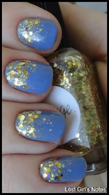 gradient glitter manicure lynnderella change