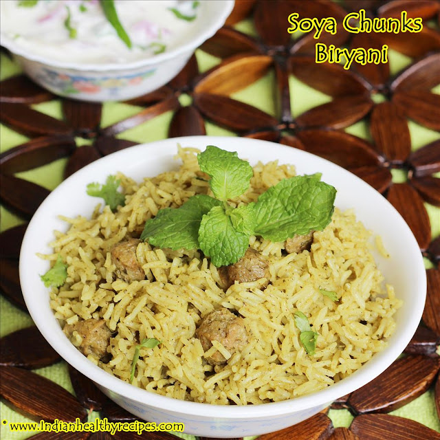 Soya Chunks Biryani | Meal Maker Biryani