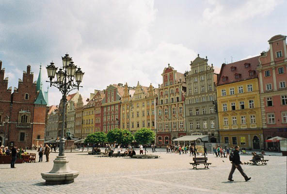 Market Square Wroclaw buildings Poland
