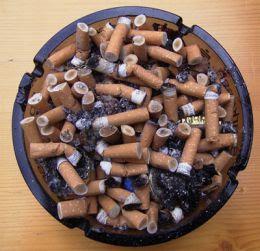 cigarettes in trash