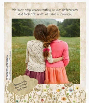general conference sisterhood oh how we need each other
