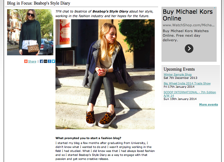 beabop's style diary featured blogger