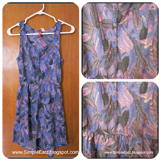 Dress. No sleeve. Knee Length. Purple, black, lavender colored feather design.