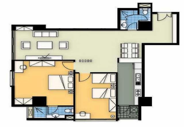 Mặt bằng căn hộ A3 chung cư Tincom City