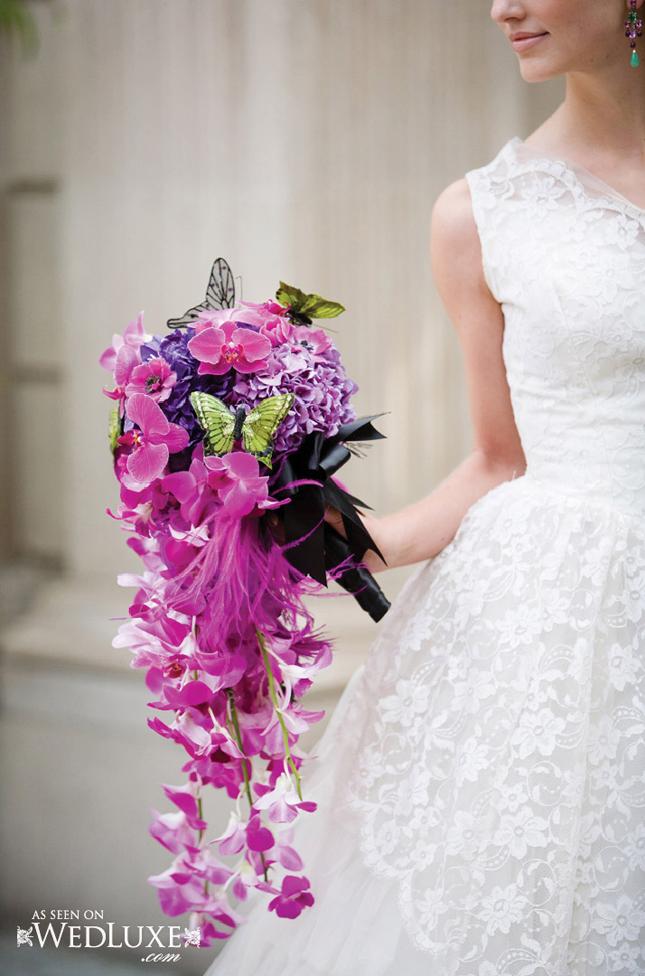 Wedding Cascade Bouquet Ideas : Wedding trends cascading flowers belle the magazine