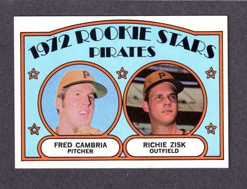 Fred Cambria (and Richie Zisk) 1972 baseball card