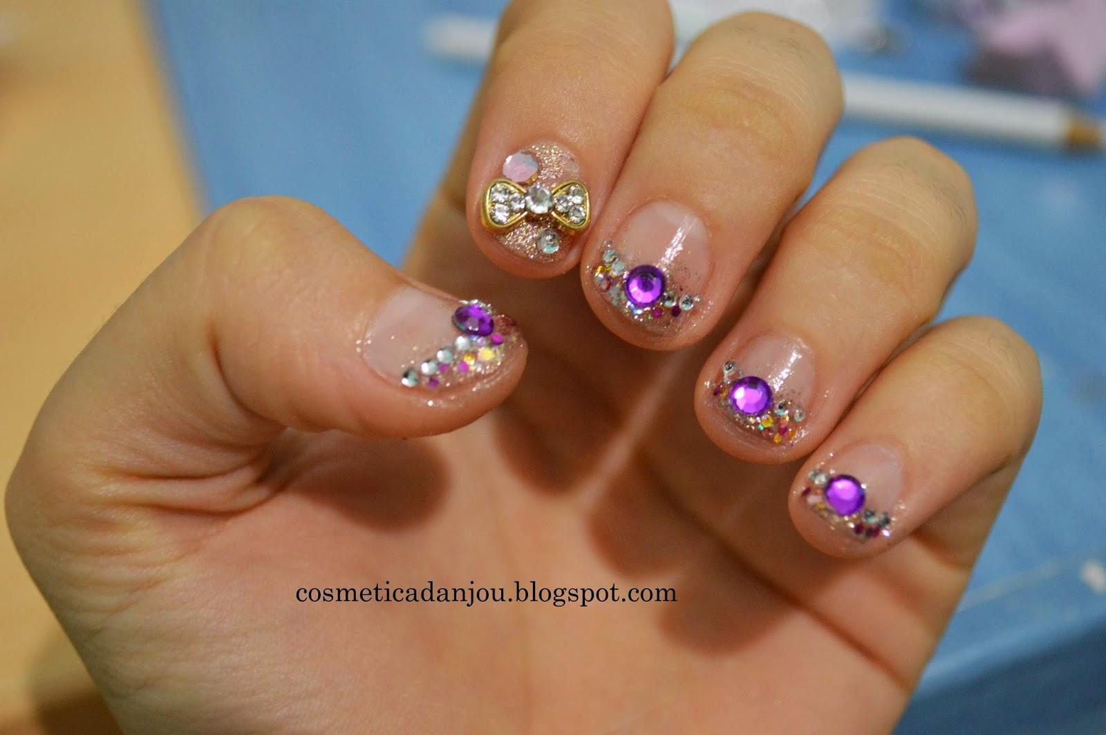 D Bow Nails Design