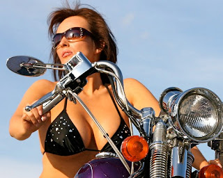biker women riding alone