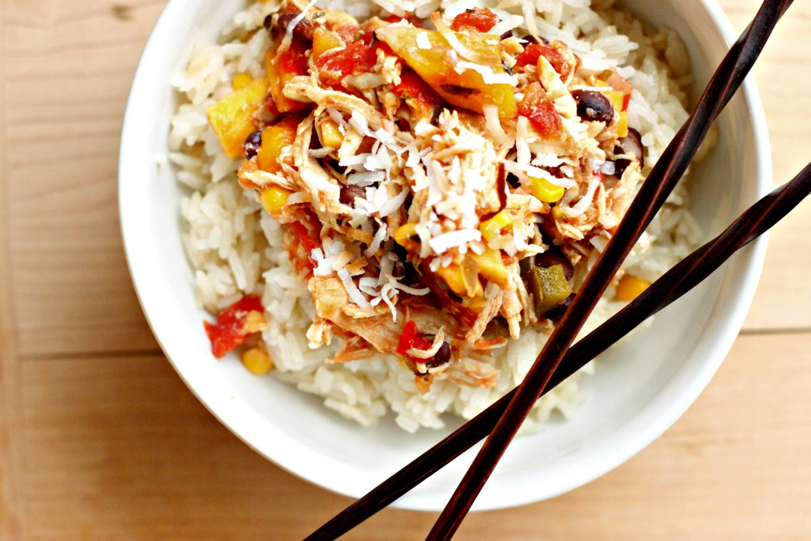... Another Day: Slow Cooker Saturday: Mango Chicken with Coconut Rice