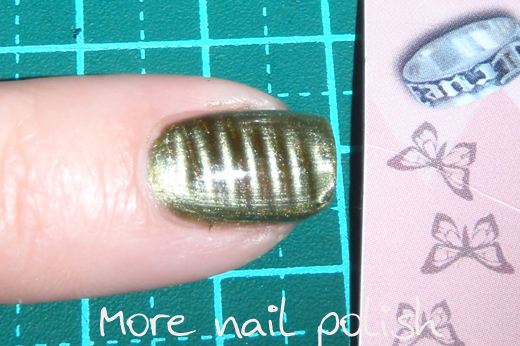 How to make your own nail art magnets more nail polish make sure youre happy to destroy the magnet you choose because you will be cutting it up next grab your pen and draw lines on the printed side of it prinsesfo Choice Image