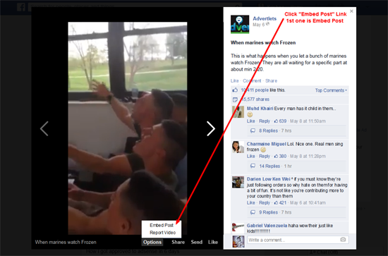 Facebook Embed Videos