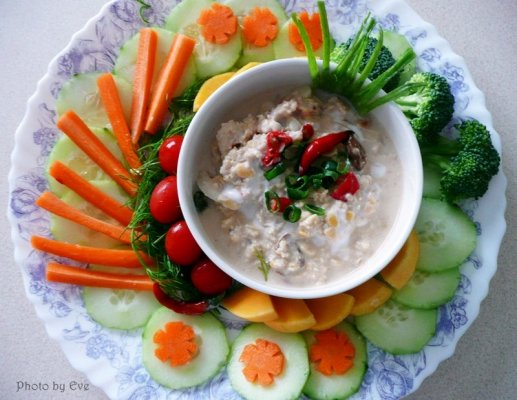 Healthy dip for vegetables- Soya bean dipping sauce