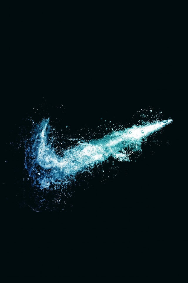 Android Best Wallpapers: Nike Logo Water Explosion Android