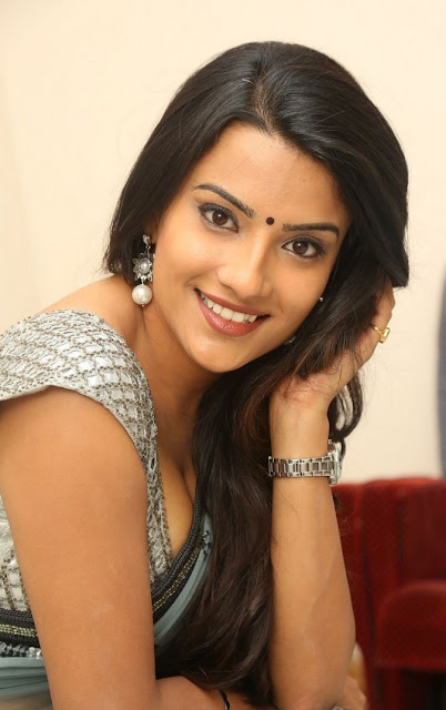 Jyoti Sethi in Saree and Deep Neck Blouse at Dynamite Movie Audio Launch