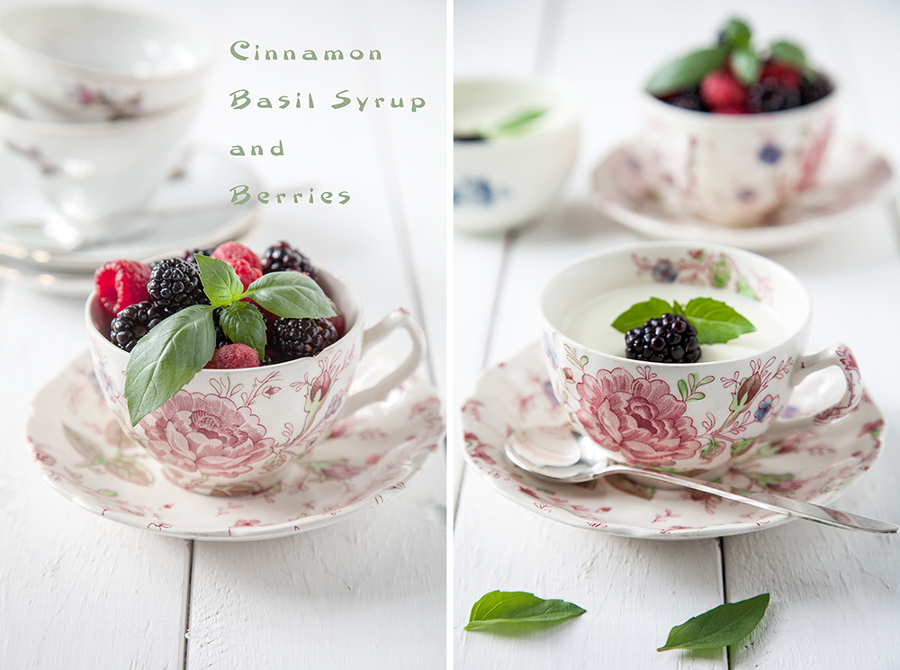 Cafe Lynnylu: Cinnamon Basil Panna Cotta with Berries