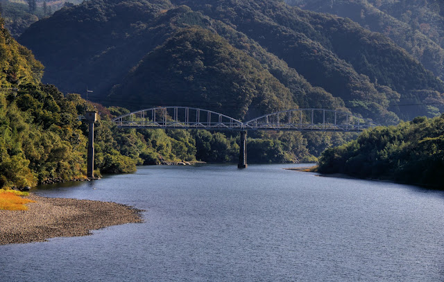 Railway Bridge, Gonokawa River, Shimane, Japan