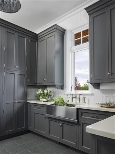 702 hollywood gray kitchens cabinets for Kitchen cabinets gray