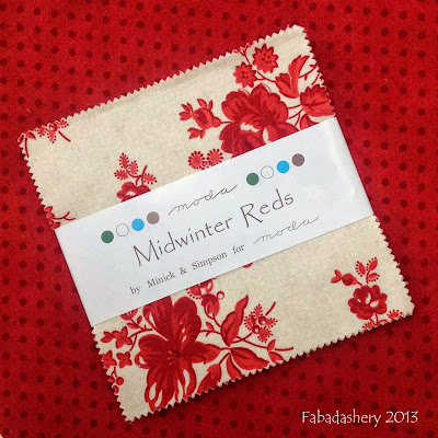 Midwinter Reds by Minick and Simpson, Moda, have arrived in the UK!