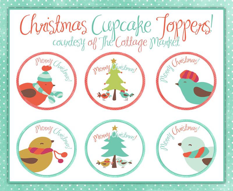 Christmas Cupcake Toppers Free Printable and Cupcake ...