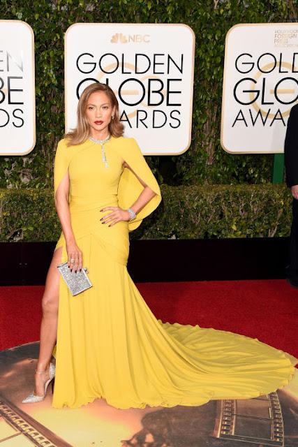 Jennifer Lopez Giambattista Valli Golden Globes 2016