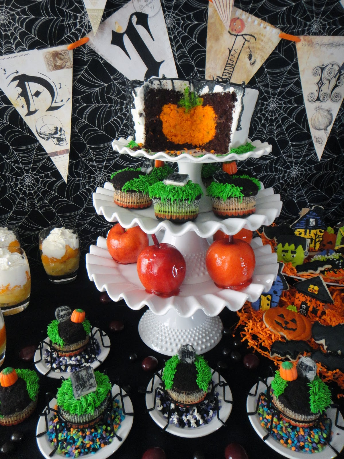 Halloween Witch Party Food On The Computer Games Play