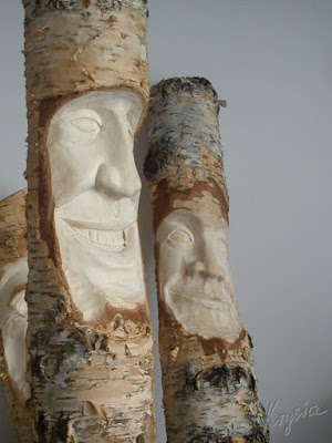 rzeźby z brzozy Leśne Ludki Ethro