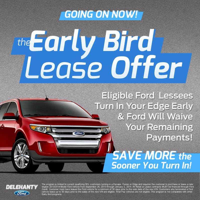 Ford Edge Early Bird Lease Offer