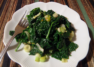 Plate of Green Garlic Kale