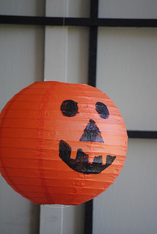 Pottery Barn Knock-Off: Hanging Pumpkin Jack O Lanterns Halloween Decorations