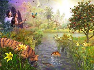 Ministerio de j venes la biblia dice bucaramanga la perfecci n de la creaci n for Adan y eva en el jardin