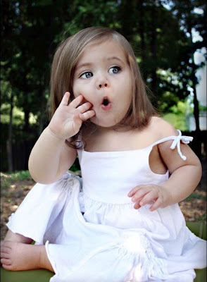 Beautiful Little baby Girl kid in white dress photos gallery