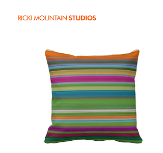Art by Ricki Mountain -Stripe Pillow Pattern