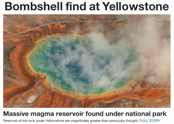 Yellowstone Volcano Eruption 2015
