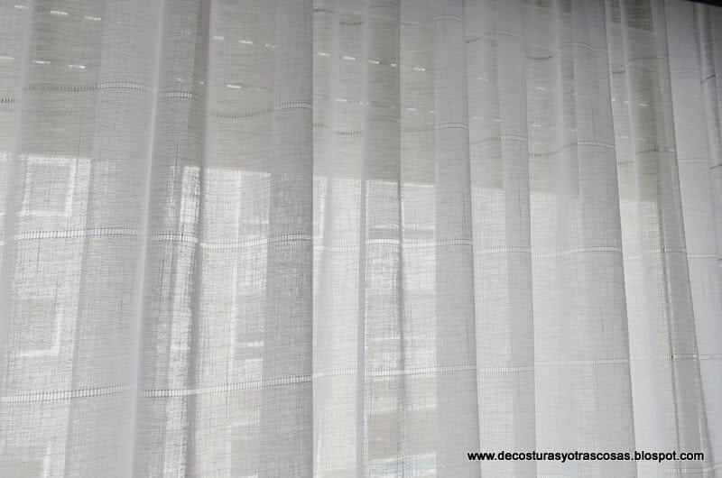 De costuras y otras cosas confeccionando cortinas 1 parte for Pared que deja pasar la luz