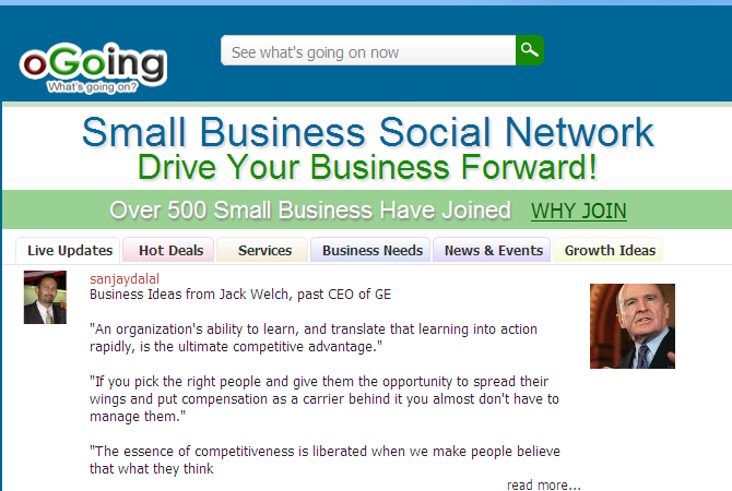 Small Business Social Network - OGoing