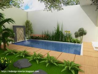 taman kolam minimalis dalam rumah | desain taman