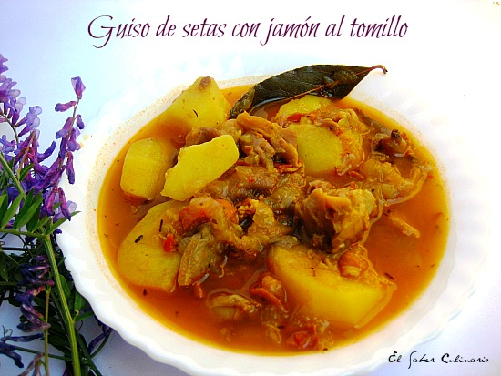 guiso-setas-jamon-tomillo-receta-facil